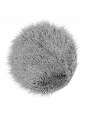 Unique Living sierkussens & plaids Vloermat fake fur 40cm Ø grey