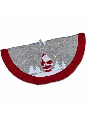 Unique Living sierkussens & plaids Kerstboomrok Santa Party D 90cm