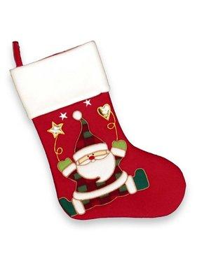 Unique Living sierkussens & plaids Kerstsok Xmas with love  santa