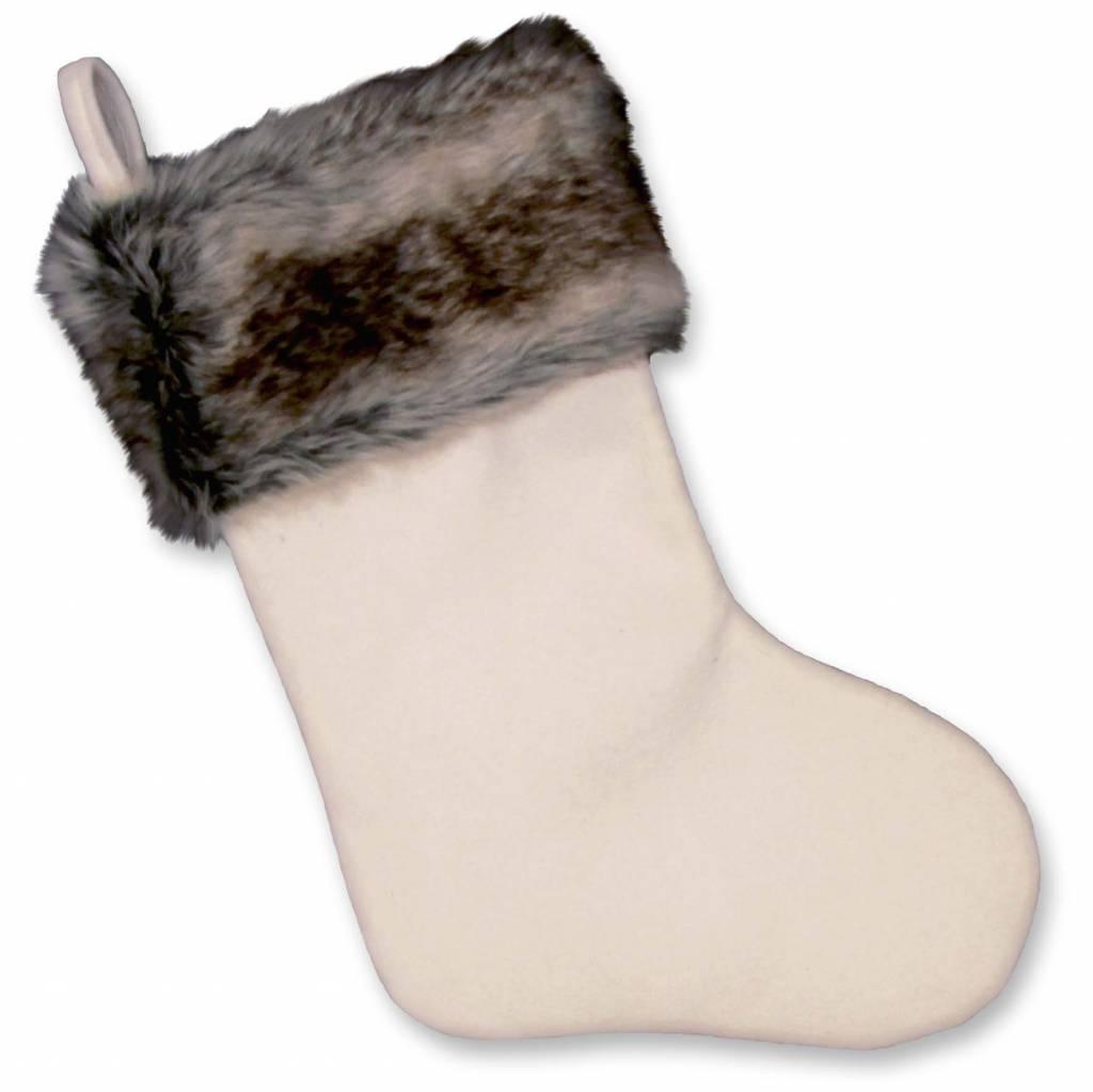 Unique Living sierkussens & plaids Kerstsok Cosy Christmas  white