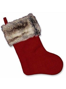 Unique Living sierkussens & plaids Kerstsok Cosy Christmas  red