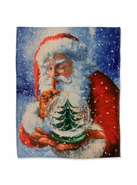 Unique Living sierkussens & plaids Winterplaid Santa 130x160cm dessin 1