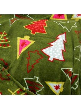 Unique Living sierkussens & plaids Winterplaid  Kerst  130x160cm boom groen
