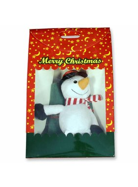 Unique Living sierkussens & plaids Winterplaid  Giftbox  90x75cm/sneeuwpop 15cm