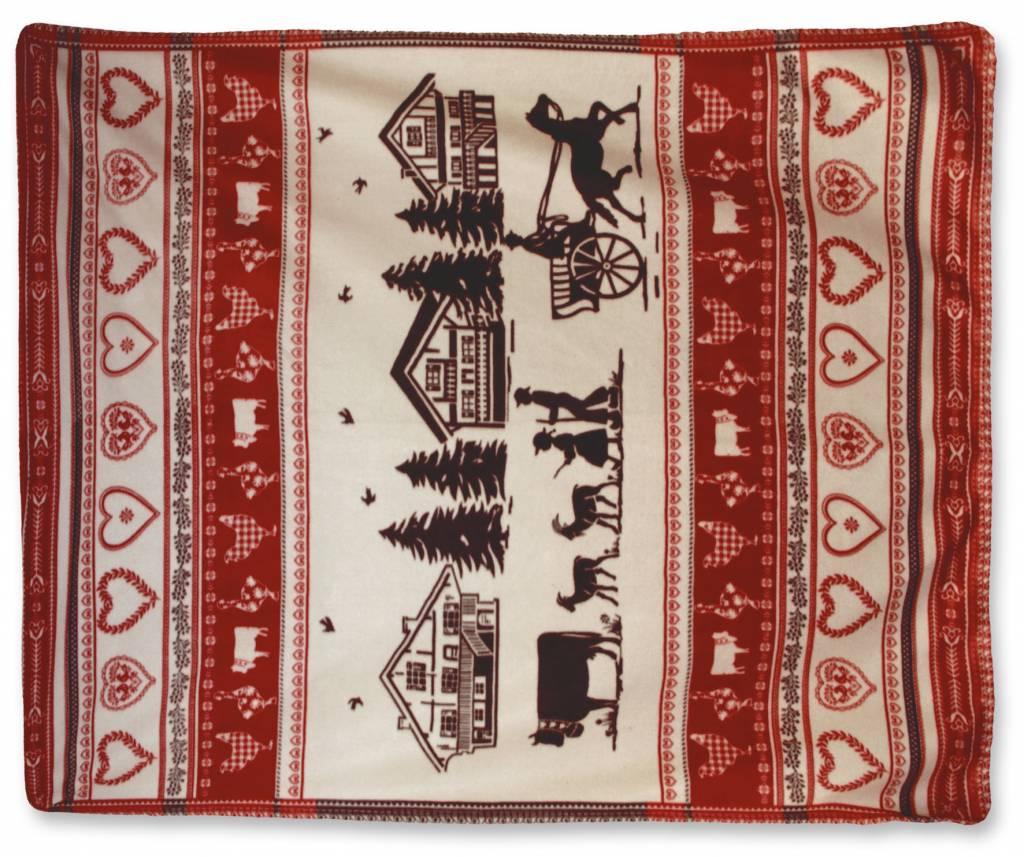 Unique Living sierkussens & plaids Winterplaid  kerst  130x160 cm 04-18