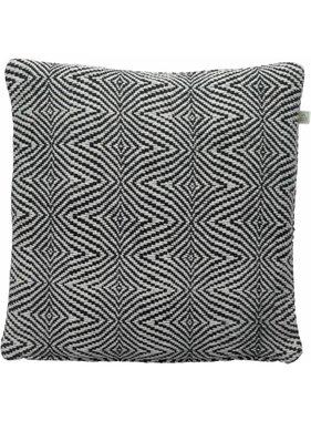 Sierkussen / sierkussens Sabine 45x45 cm zwart