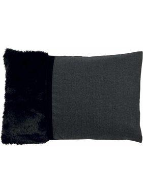 Sierkussen / sierkussens Stefanie 40x60 cm zwart