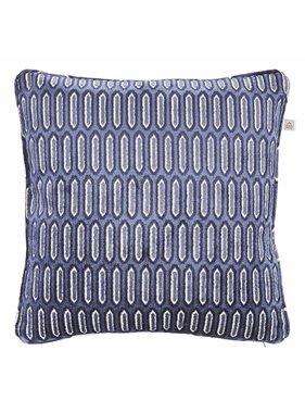 Sierkussen / sierkussens Vitan 45x45 cm donkerblauw