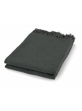 dutch decor sierkussens & plaids Plaid Mindy 130x180 cm donker grijs
