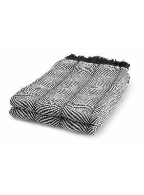 dutch decor sierkussens & plaids Plaid Sabine 130x180 cm zwart