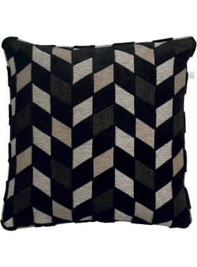 dutch decor sierkussens & plaids Kussenhoes Robert 45x45 cm zwart