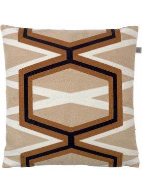 dutch decor sierkussens & plaids Kussenhoes Pimy 45x45 cm goud multi