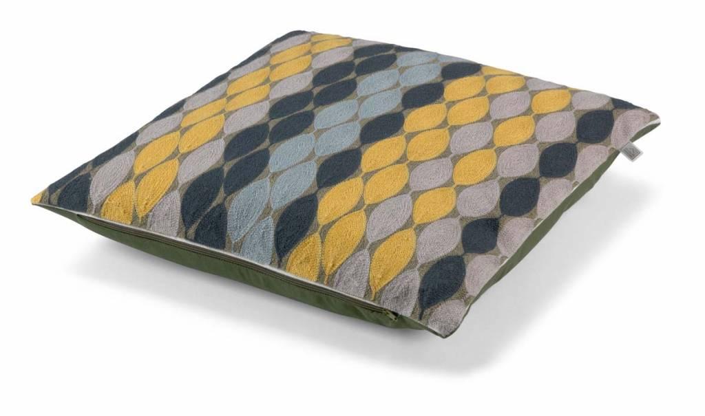 dutch decor sierkussens & plaids kussenhoes Adam 45x45 cm olijf multi