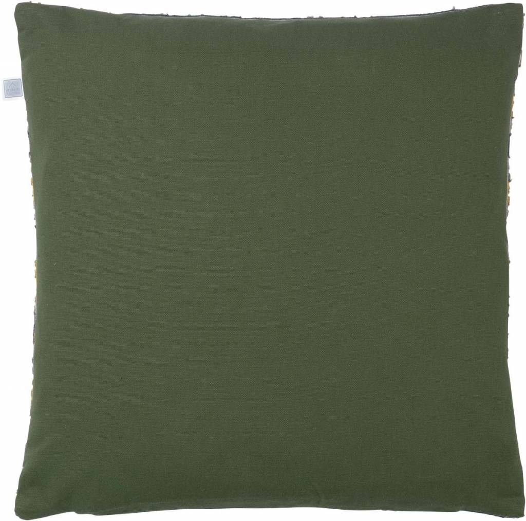 dutch decor sierkussens & plaids kussenhoes Luuk 45x45 cm olijf multi