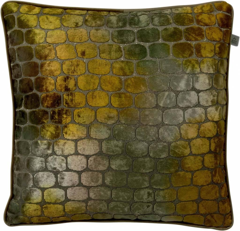 dutch decor sierkussens & plaids kussenhoes Borky 45x45 cm oker multi
