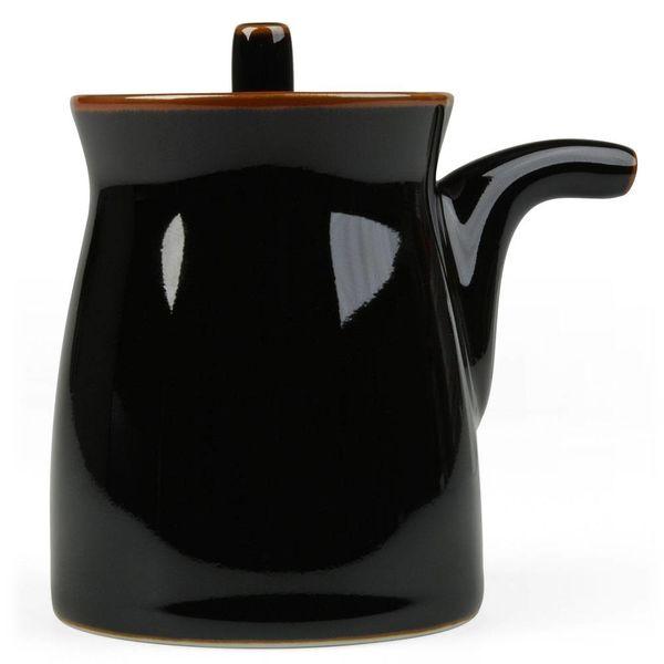 hakusan porcelain g-type soyasaucen kännchen   schwarz – design sori yanagi