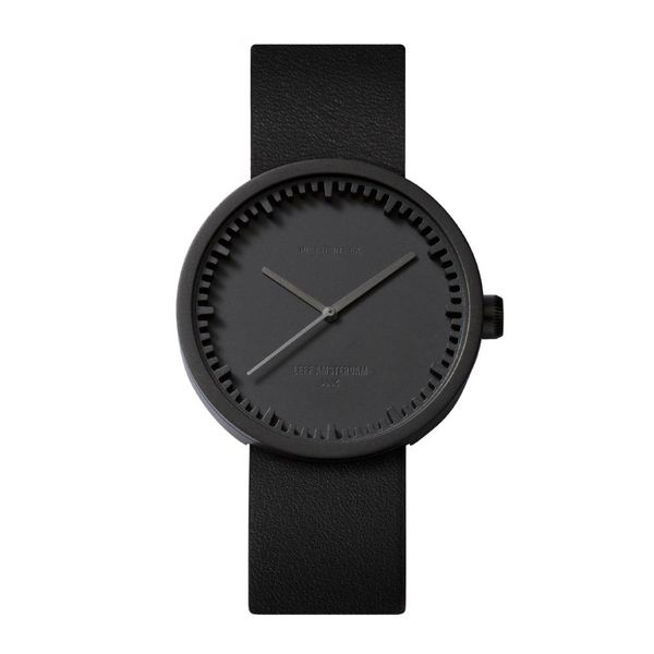 leff tube watch | schwarz, ø 38 mm – design piet hein eek