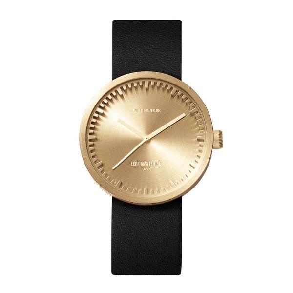 leff tube watch | messing, ø 38 mm – design piet hein eek
