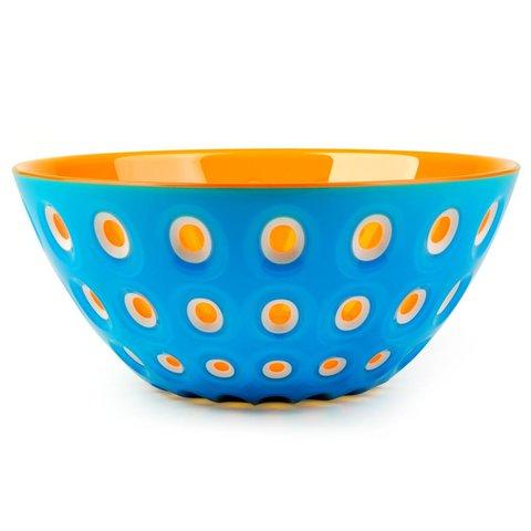 le murrine schale | 25 cm, azurblau-weiß-orange