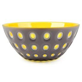 guzzini le murrine schale | 25 cm grau-gelb