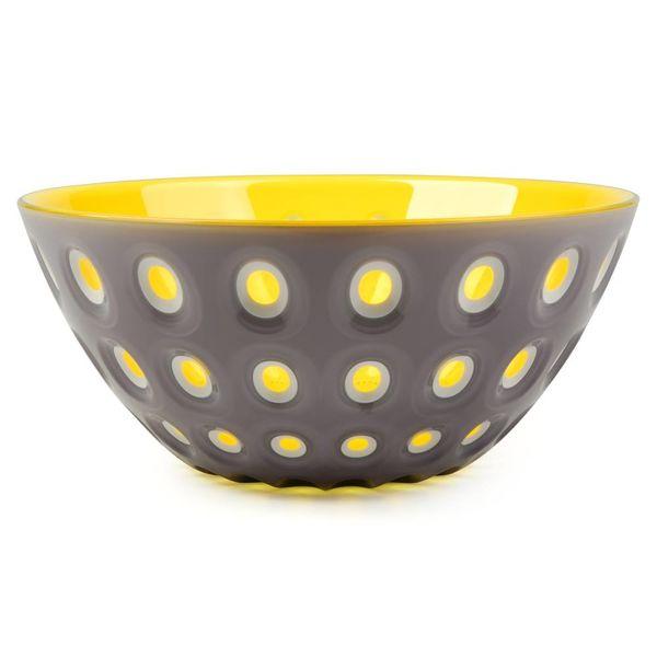 guzzini le murrine schale | 25 cm grau-gelb – design pio+tito toso
