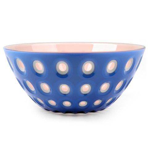 le murrine schale | 25 cm, blau-weiß-rosa