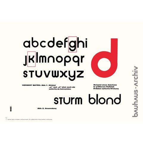 poster: universal-alfabet von herbert bayer