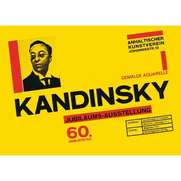 bauhaus-shop poster: kandinsky 60. geburtstag - design herbert bayer