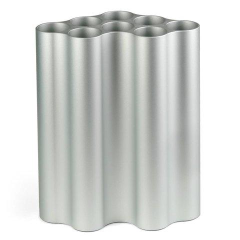 nuage vase | medium, hellsilber