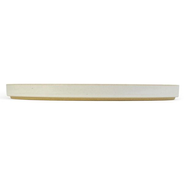 hasami hasami teller/deckel Ø 25,5 cm | hellgrau glasiert – design takuhiro shinomoto
