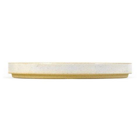 hasami teller/deckel | Ø 22 cm | hellgrau glänzend glasiert