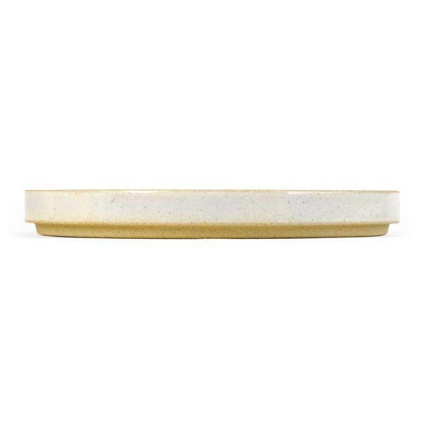 hasami porcelain hasami teller/deckel | Ø 22 cm | hellgrau glänzend glasiert – design takuhiro shinomoto