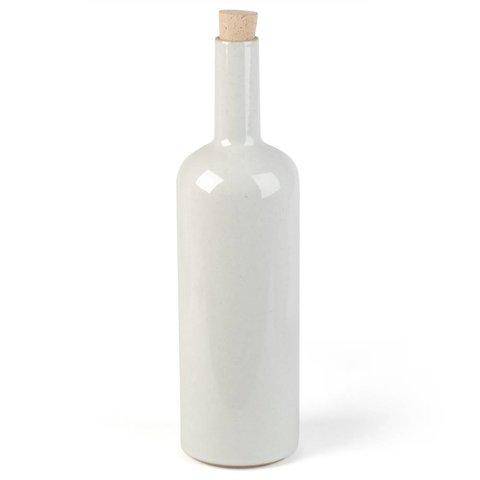 hasami flasche | hellgrau glänzend glasiert