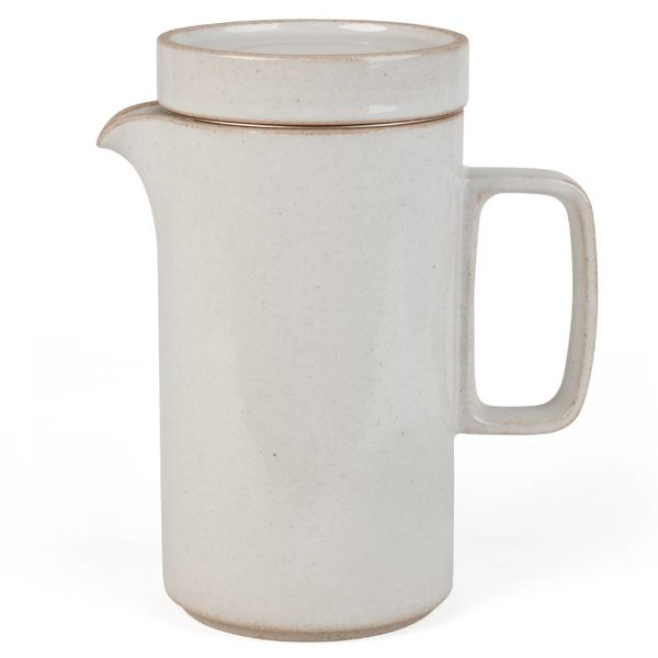 hasami porcelain hasami hohe kanne | hellgrau glänzend glasiert – design takuhiro shinomoto