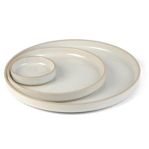 hasami teller/deckel   Ø 18,5 cm   hellgrau glänzend glasiert