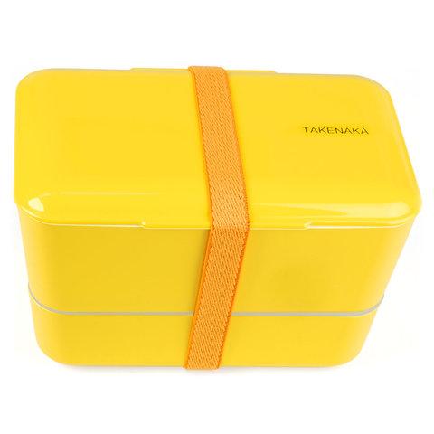 bento box | doppelt, gelb