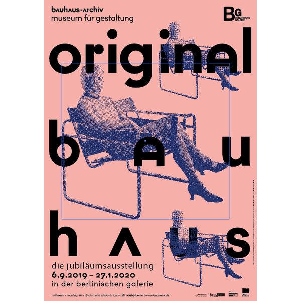 poster original bauhaus | frau mit maske