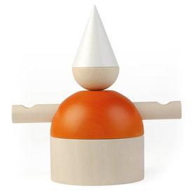 cultform stereotypen | armleuchter harlekin | natur-weiß-orange