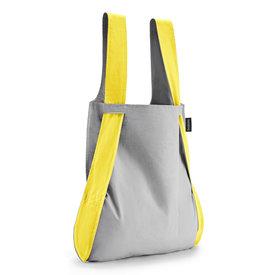 notabag notabag tasche+rucksack | grau-gelb