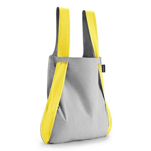 notabag tasche+rucksack | grau-gelb