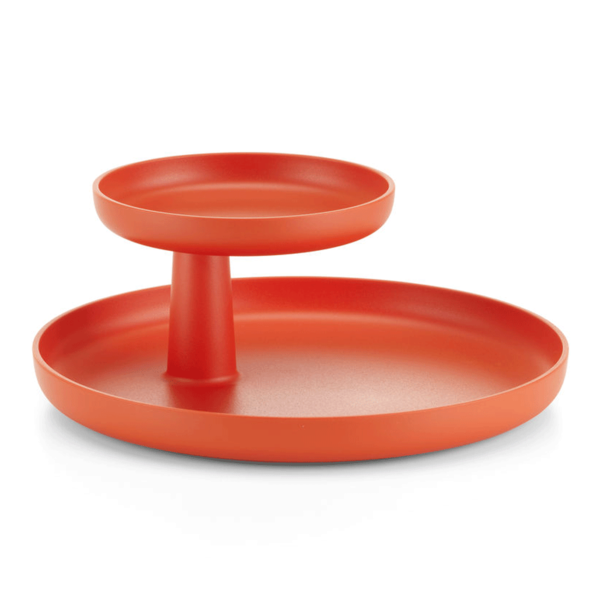 vitra rotary tray | poppy red – design jasper morrison