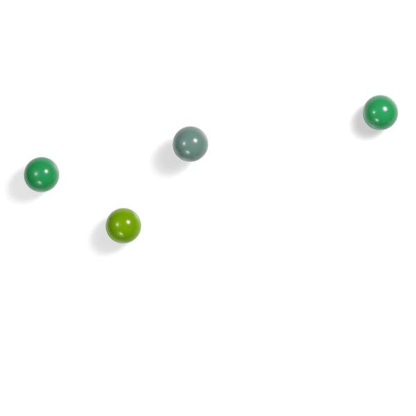 vitra coat dots, 3er set gaderobenhaken | rot – design hella jongorius