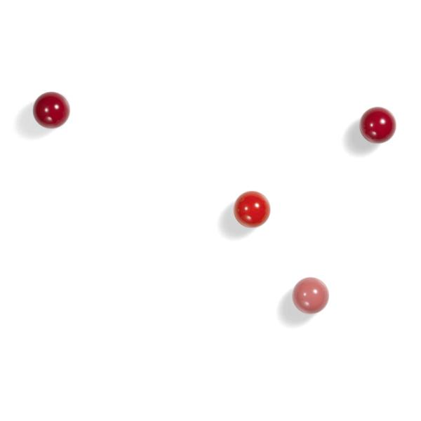 vitra coat dots, 3er set gaderobenhaken   rot – design hella jongorius