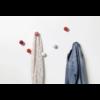 coat dots, 3er set gaderobenhaken   rot – design hella jongorius