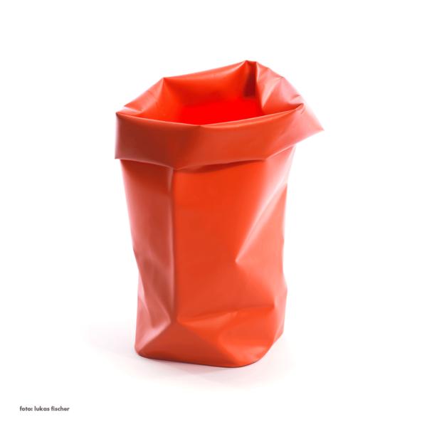 l&z roll-up behälter | 30 l, blutorange – design michel charlot