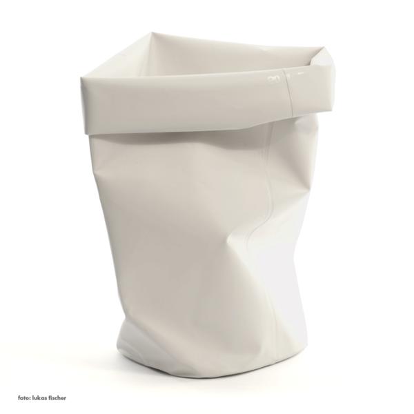 l&z roll-up behälter | 60 l, weiß – design michel charlot