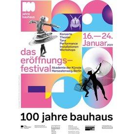 poster 100 jahre bauhaus - eröffnungsfestival | weiß