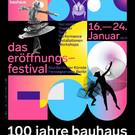 bauhaus-shop poster 100 jahre bauhaus - eröffnungsfestival | schwarz
