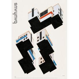bauhaus-shop poster: farbplan bauhaus meisterhäuser dessau von alfred arndt