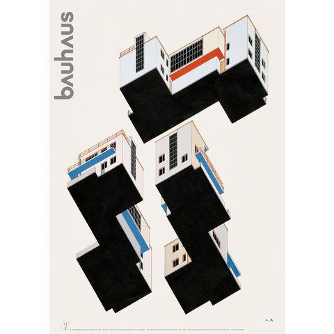 poster: farbplan bauhaus meisterhäuser dessau von alfred arndt